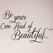 """24"""" Be Your Own Kind of Beautiful Butterfly Wall Decal Decor Sticker Quote"""