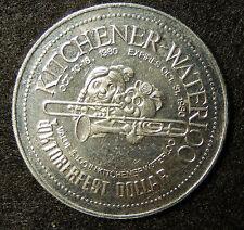 "1980 Kitchener Waterloo ""The Centre in..."" Oktoberfest Dollar Token Coin SB3584"