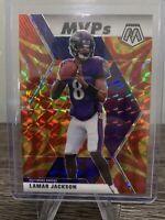 2020 Mosaic Lamar Jackson MVPs Reactive Gold #296 Baltimore Ravens