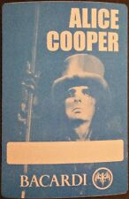 ****** ALICE COOPER ****** - SATIN BACKSTAGE PASS - UNUSED - EXCELLENT - BACARDI