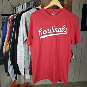 NWT St Louis Cardinals Mens Shirt 47 Brand NFL Football Medium Short Sleeve