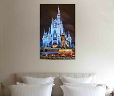 Disney Castle 30x20 Inch Canvas Framed Picture - Xmas Framed Print Art