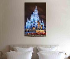 Disney Castle 30x20 Inch Canvas Framed Picture - Xmas Framed Print Art