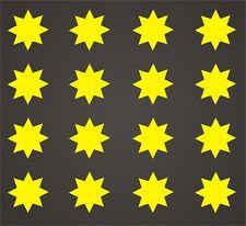16 PEGATINAS - Sticker - Vinilo - Estrella de 8 puntas - Aufkleber Vinyl Iphone