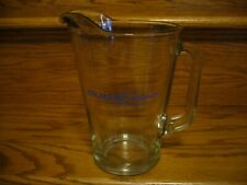 Budweiser Light Beer 48 Ounce Bar Ware Blue Lettering Clear Glass Beer Pitcher
