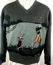 Vintage Arnold Palmer Golf Sweater V-Neck Acrylic/Wool Size Xl Embroidered