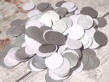 1000 Hecho A Mano Papel De Seda Círculo Confeti Plateado Metalizado Boda Blanca