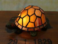 Tiffany Tischlampe Schildkröte Stimmungsleuchte Tiffanylampe Lampe TE29-a