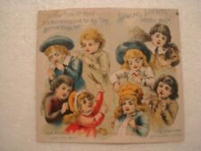 Vintage Needle Book American Sewing Society W advertising inside