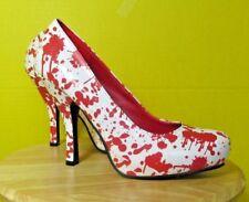 Hot Topic T3NTH1RTYONE Funtasma White & Red Stiletto Pumps Size 8 Bloody12