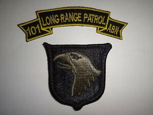 Vietnam Guerre États-Unis 101st Airborne Division Patch Et de Long Gamme Patrol