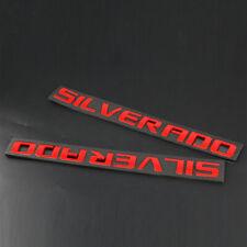 Red Silverado Tailgate Nameplate Emblem Badge 1500 2500HD 3500 2011-2015
