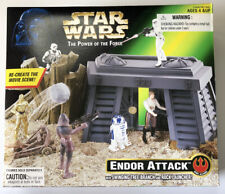 NEW Star Wars Endor Attack with Swinging Branch & Rock Launcher Kenner 1996
