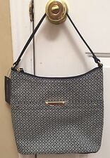 BRAND NEW Women's TOMMY HILFIGER Navy and White Hobo Handbag - $79 MSRP