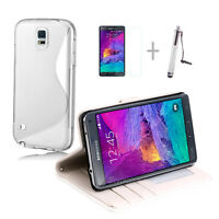 WHITE Wallet 4in1 Accessory Bundle Kit Case Cover For Samsung Note 4 N9100