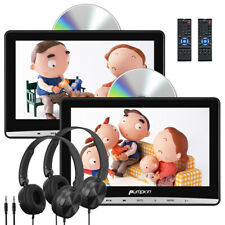 "US 2X 10.1"" LCD Car Headrest Monitor DVD/USB Player Dual Screen AV-IN Headsets"