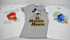 Women's Short Sleeve Disney T-Shirts Small Dory Minnie Ariel