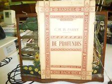 Music.De Profundis. Parry. Novell's Original Octavo.