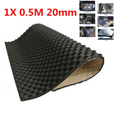 1x0.5M 20mm Car Hood Door Heat Sound Deadener Acoustic Insulation Underlay Mat