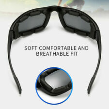 BLACK Outdoor Wind Resistant Sunglasses Extreme Sports Motorcycle Riding Glasses