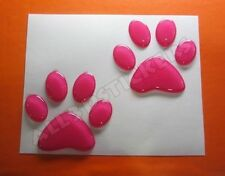 3D Sticker Decal Resin Domed Paws Adhesive Decal  Pink