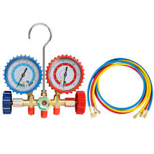 R12 R22 R134A R502 HVAC A/C Refrigeration Manifold Gauge Set w/3ft Charging Hose