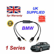 BMW Serie 1 Cable de audio para Samsung Galaxy, HTC, BlackBerry, LG, Nokia, Sony