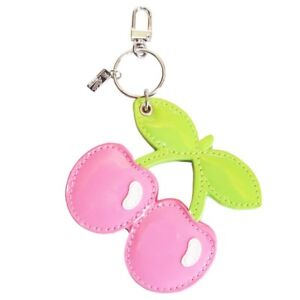 Pacha PINK Cherry Charm Keyring with Compact Mirror Faux Leather OFFICIAL Merch