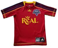 Adidas Real Youth Soccer Jersey Red Shirt Boy's Kids Size 9-10y