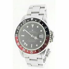 Rolex Mens GMT Master II Coke Bezel Stainless Steel 40 MM Ceramic Watch 116710