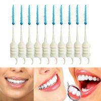 200 Pcs Double Floss Head Hygiene Dental Floss Interdental Brush Toothpick