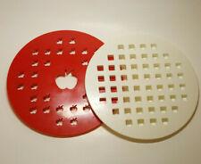 """Pie Crust Cutter - Set of 2 - Apple + Lattice - Decorative Pie Crust Dough 9.75"""""""