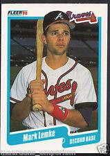 Fleer 1990 Tarjeta de béisbol-no 587-Mark Lemke-Bravos
