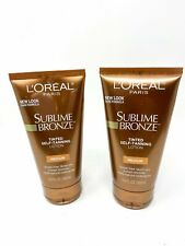 L'Oreal SUBLIME BRONZE Tinted Self-Tanning Lotion Medium Natural Tan 5 oz (2pk)