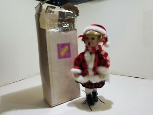 Hand Stitched Polyester Cotton Stuffed Toy Dreams & Treasures Girl Caroler New