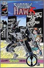 "SHADOW HAWK Issue #2 October 1992 ""A Good Night for Arson"" Metallic Ink Cover"