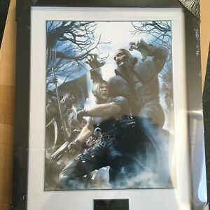 """Resident Evil Frame Art print 34x45 cm Collector Official """"NEW"""" SEALED"""
