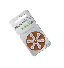 6 PowerOne Hearing Aid Batteries PR41, p312, Size 312 Super Fresh Expire 2020