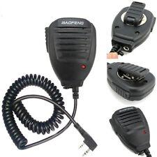 2 Botones Baofeng BF-UV5R hombro portátil Mini Altavoz Mic walkie talkie