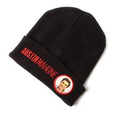 Austin Mahone Black Knit Beanie Hat Cap Embroidered Photo of Austin AM Mahomie