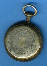 montre à gousset argent,  XIXème siècle, cylindre 10 rubis