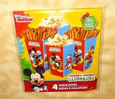 Disney Mickey Mouse Club 4 Party Favor Treat Snack Boxes Fun Time Multi Color