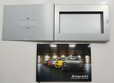"PORSCHE Official Original ""911 50"" 50th 911 Celebration Book pack RARE"