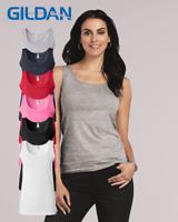 Gildan - Softstyle Women's Plain Blank Solid Cotton Tank Top - 64200L