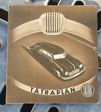 Prospekt Brochure Tatra Tatraplan ca. 1949 tschechisch