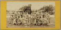 Francia Travaux Fattoria Scena Da Genere Foto Stereo Vintage Albumina Ca 1865