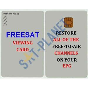 FREESAT TV VIEWING CARD