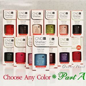 CND SHELLAC UV Gel Nail Polish Base Top Coat 7.3ml 0.25oz Pick ANY Color PART A