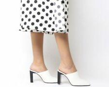 Mules blanches pour femme