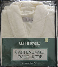 Cream Bath Robe by Canningvale| Cotton | Luxurious Soft Plush Feel | Small